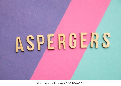 Aspergers spelled out on colorful background