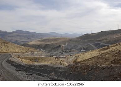 Asphalt batch plant, Nevada, USA