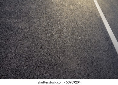 asphalt detail with white line