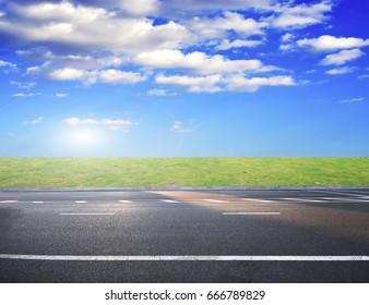 Asphalt highway road