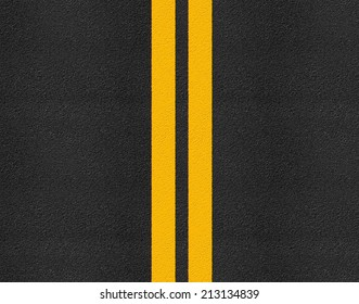 Asphalt highway road texture with markings background