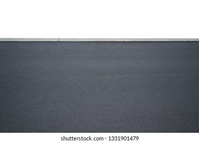 Asphalt road isolated on white background with clipping path.