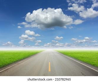asphalt road.  landscapes background.