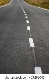 the asphalt road marks close