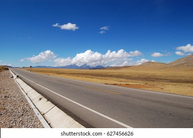 Asphalt road in mountains