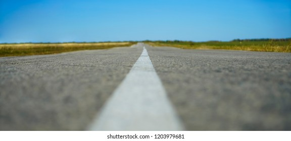 asphalt Road in nature. empty background