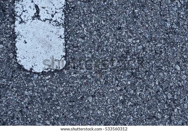 asphalt road painted white