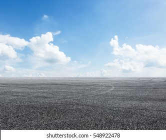 Asphalt road and sky