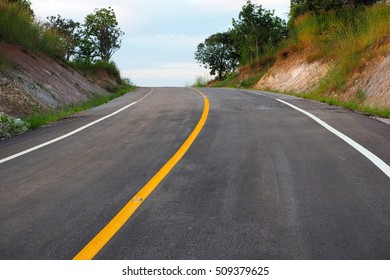 asphalt road in thailand