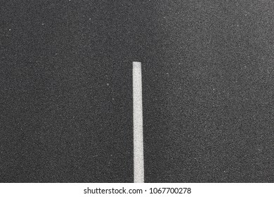 Asphalt road with white mark line.