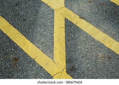 Asphalt road with yellow lines