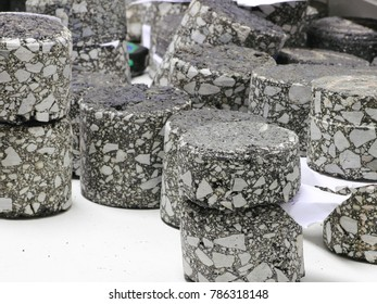 Asphalt samples on laboratory