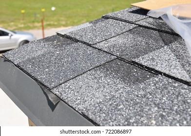 Asphalt Shingles Roof Installation.  Install Asphalt Roofing Shingles. Roof Shingles - Roofing Construction, House Roofing Repair.