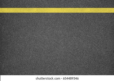 Asphalt texture background with yellow line