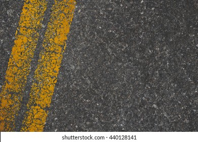 Asphalt texture with road markings background