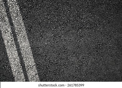 Asphalt texture with separation lines, top view