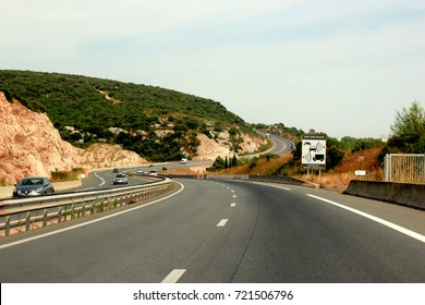 Asphalt and travel concept.Road and sunset.Empty highway,mountain landscape .Road and car travel concept