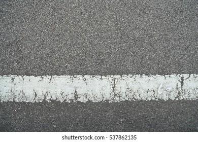 Asphalt with white road line