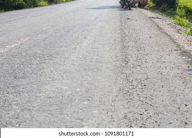 asphaltic concrete road