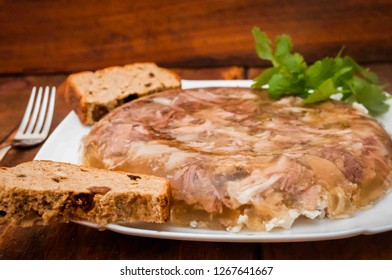 aspic meat, cold appetizers, Ukrainian cuisine, aspic, delicious food, brawn