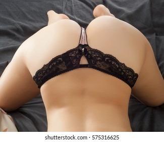 Ass of young woman without cellulite