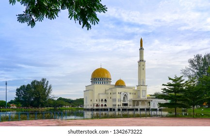 As-Salam mosque in Malaysia with copy space