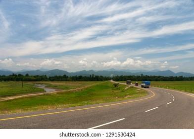 Assam Arunachal Highway in Assam, India.