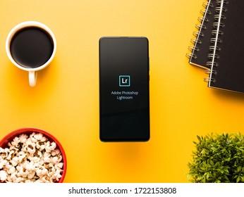 Assam, india - April 21, 2020 : Adobe Lightroom mobile app.