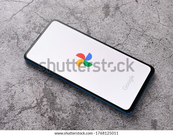 Assam, india - July 1, 2020 : New google photo app logo.