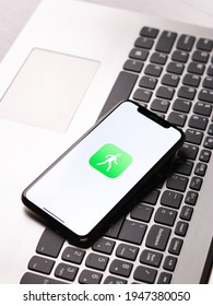 Assam, india - March 30, 2021 : Pedometer++ logo on phone screen stock image.
