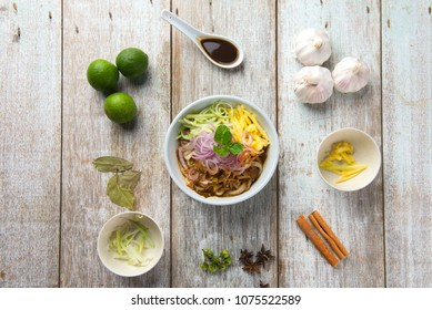 Assam Laksa top flat lay view