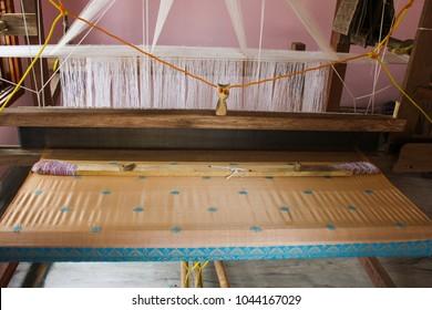 Assamese traditional hand loom with Assam silk