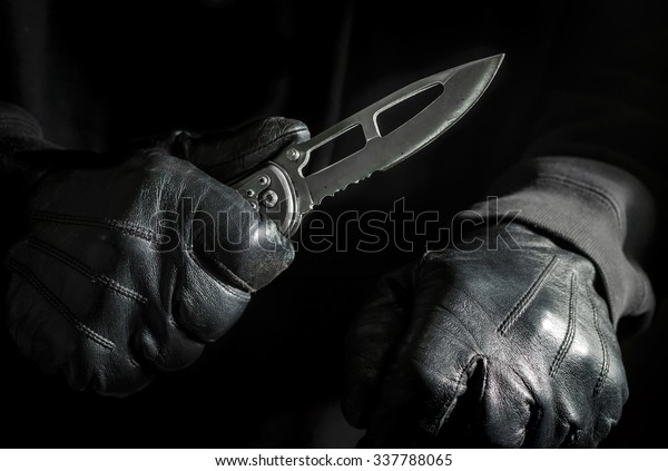 Assassin Concept Hitman Armed Knife Stock Photo Edit Now 337788065