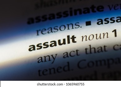 assault word in a dictionary. assault concept.