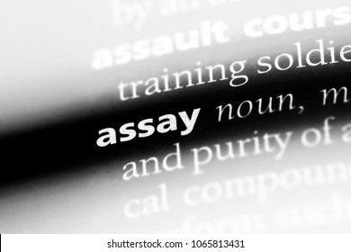 assay word in a dictionary. assay concept.