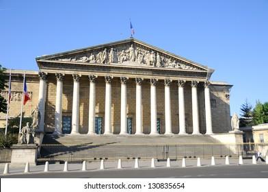 Assemblee Nationale (Palais Bourbon) - the French Parliament.