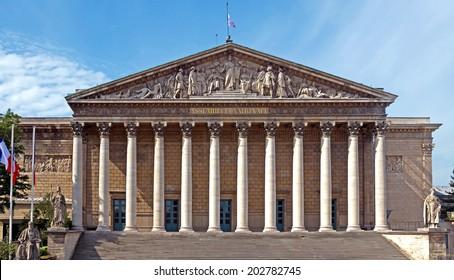 Assemblee Nationale (Palais Bourbon) - the French Parliament, Paris, France.
