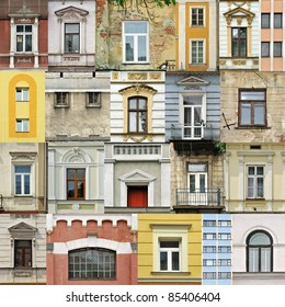 Assembling of different windows in different architectral styles