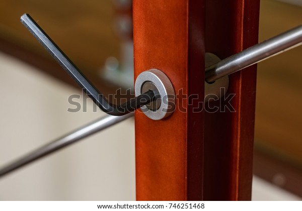 Assembling furniture with hex key