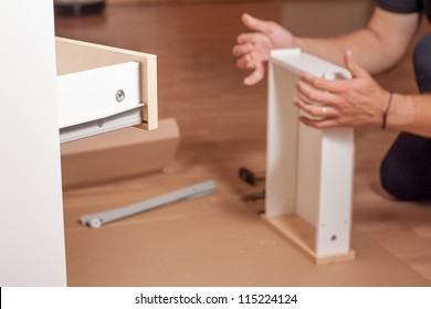 Assembling of wooden table