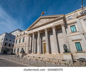 The Assembly Building in Madrid called Congreso de los disputados - parliament building
