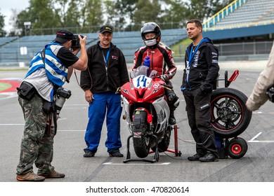 ASSEN, DUTCH - AUGUST 141, 2016 TT Circuit, IDM German Championship, Photografers Job
