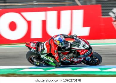 ASSEN NETHERLANDS - APRIL 12-14, 2019: World Superbike Race Championship WSBK-Motul Dutch Round,