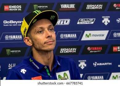 ASSEN NETHERLANDS - JUNE 23.-24, 2017: Moto GP Race Championship, Valentino Rossi, Yamaha, 46, back side