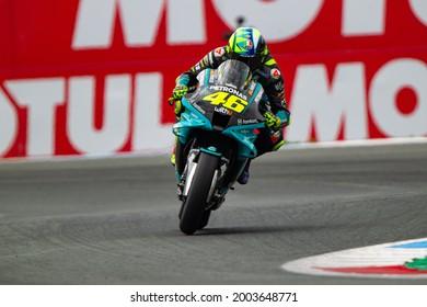 ASSEN, NETHERLANDS - JUNE 26, 2021: Italian Yamaha rider Valentino Rossi at 2021 Motul MotoGP of Netherlands