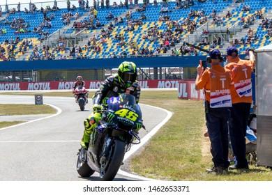 ASSEN NETHERLANDS - JUNE 28.-30, 2019: Moto GP Race Championship, Valentino Rossi, Yamaha, 46