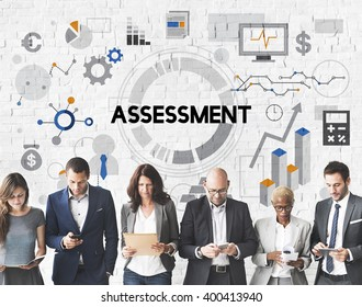 Assessment Evaluation Analysis Management Report Concept