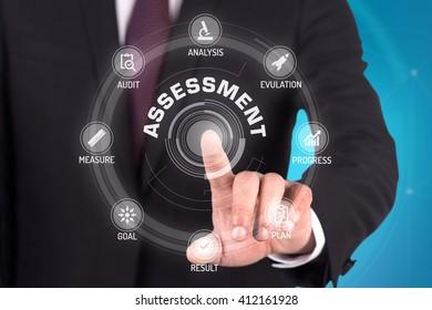 ASSESSMENT TECHNOLOGY COMMUNICATION TOUCHSCREEN FUTURISTIC CONCEPT