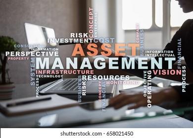 Asset management words cloud.