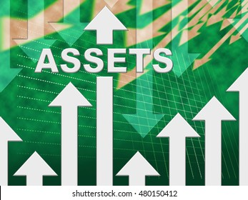Assets Graph Representing Resources Valuables And Holdings
